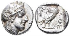 Ancient Coins - Attica, Athens. Circa 454-404 BC. AR Tetradrachm (17.17 gm, 25mm). Kroll 8
