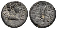 Ancient Coins - Phrygia, Dionysopolis. Tiberius. 14-37 AD. AE 17mm (5.76 gm). Charixenos magistrate. RPC I 3120