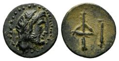 Ancient Coins - Asia Minor, Uncertain. 2nd century BC. AE 11mm (0.74 gm). Gitbud & Naumann 14, lot 208