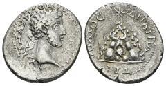 Ancient Coins - Cappadocia, Caesarea-Eusebia. Commodus. 177-192 AD. AR Didrachm (4.00 gm, 21mm). Sydenham, Caesarea 372b