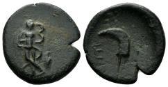 Ancient Coins - Pisidia, Etenna. 1st century AD. AE 19mm (3.91 gm). Hans von Aulock, Pisidien, 516-27