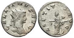 Ancient Coins - Gallienus. 253-268 AD. AR Antoninianus (3.22 gm, 20mm). Rome mint. Circa 265-267 AD. RIC V-1, Rome 226