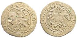 World Coins - Poland/ Lithuania. Sigismund II August. AR Half Grosz (1.15 gm, 19mm). 1561. Vilnius mint