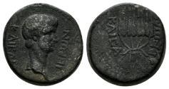 Ancient Coins - Lydia, Tralles. Nero. AD 54-68. AE 16mm (5.07 gm). SNG Copenhagen 692. Rare
