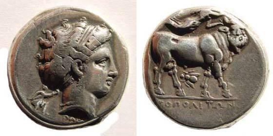Ancient Coins - Campania, Neapolis, ca. 380-280 BC, AR Didrachm (7.60 gm.). Dewing 98; SNG ANS 350; Sambon 465; coll. Nivaille 52 (this coin)