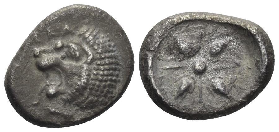 Ancient Coins - Karian Satraps. Hekatomnos. Circa 392/1-377/6 BC. AR Tetrobol (3.85 gm, 16mm). Mylasa mint. SNG Keckman 274