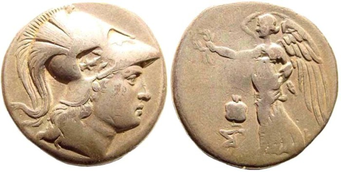 Ancient Coins - Pamphylia, Side. Circa 205-100 BC. AR Tetradrachm (16.49 gm, 27mm). SNG France 713-4; SNG von Aulock 4793