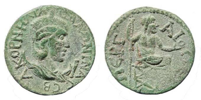 Ancient Coins - Pamphylia, Perga, Salonina, AE 29 mm