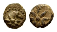 Ancient Coins - Uncertain Bosporus and Pontus. Circa 130-100 BC. AE 12mm (2.25 gm). SNG British Museum, Black Sea 984. Rare coin with Comet