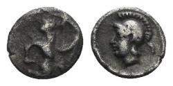 Ancient Coins - Kilikia, Uncertain. 4th century BC. AR Tetartemorion (0.22 gm, 5.5mm). Troxell & Kagan 12