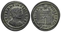 Ancient Coins - Constantine II. As Caesar, 316-337 AD. AE Nummus (2.81 gm, 19mm). Heraclea mint, 327-329 AD. RIC 77
