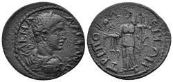 Ancient Coins - Lydia, Tripolis. Severus Alexander, 222-235 AD. AE 26mm (7.15 gm). SNG von Aulock 8296; BMC 67