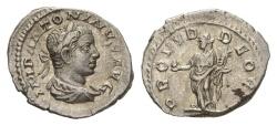 Ancient Coins - Elagabalus. 218-222 AD. AR Denarius (2.90 gm, 20mm). Rome mint. Struck 219 AD. RIC IV 130