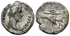 Ancient Coins - Antoninus Pius. 138-161 AD. AR denarius (2.57 gm, 18mm). Rome mint. Struck circa 145-147 AD. RIC 43