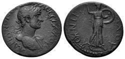 Ancient Coins - Thessaly, Thessalian League. Hadrian. 117-138 AD. AE Assarion (3.95 gm, 21mm). Ulpius Nikomachos, strategos, circa 123-125 AD. BCD Thessaly 952.1
