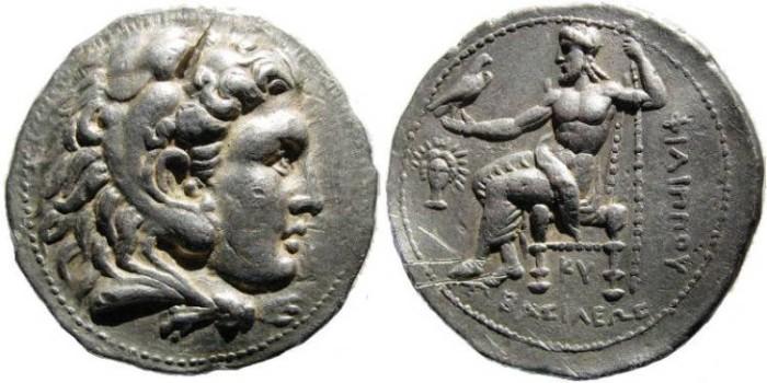 Ancient Coins - Macedonian Kings. Philip III, 323-317 BC. AR Tetradrachm (17.11 gm). Babylon mint. Price P205