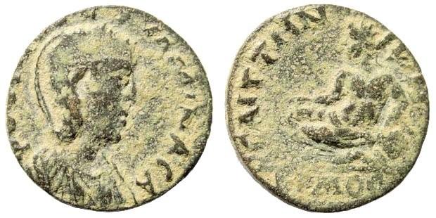 Ancient Coins - Lydia, Saitta. Tranquillina, wife of Gordian III, 238-244 AD. AE 20mm (5.70 gm). SNG Copenhagen 412; SNG von Aulock 3104