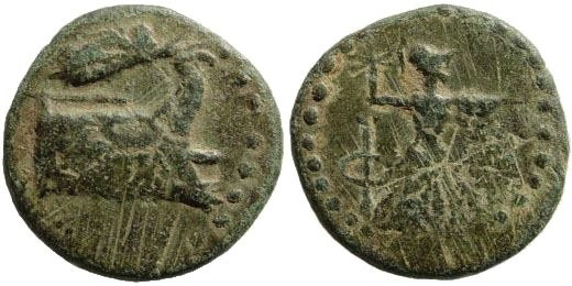 Ancient Coins - Lycia, Phaselis. After 190-167 BC. AE 18mm (3.66 gm). SNG Helsinki I, 625