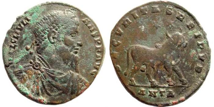Ancient Coins - Julian II, 360-363 AD. AE 26mm (8.01 gm). Antioch mint. RIC VIII 217; LRBC 2640