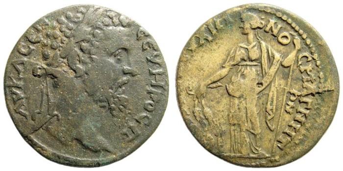 Ancient Coins - Ionia, Magnesia. Septimius Severus, 193-211 AD. AE 29mm (14.46 gm). Unpublished