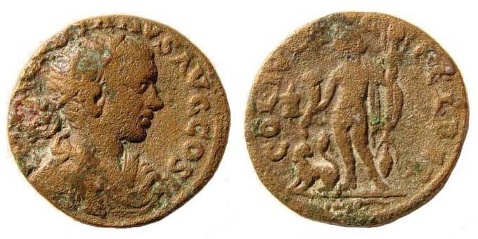 Ancient Coins - Phoenicia,Gordian III,238-244 AD. Æ 22.6 mm (8.78 gm). BMC Phoenicia pg. 89, 245-249.
