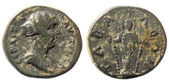 Ancient Coins - Lydia, Tabala. Faustina filia. 161-180 AD. AE 18mm (3.33 gm). SNG v. Aulock 3191