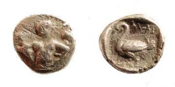 Ancient Coins - Cilicia, Mallos. Circa 425-385 BC. AR Twelfth Stater (0.73 gm, 9mm). SNG Levante 129