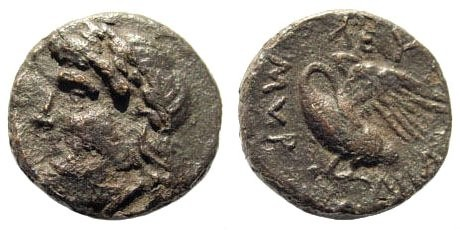 Ancient Coins - Ionia, Leukai. Circa 350-300 BC. AE 16mm (3.02 gm). SNG Copenhagen 801