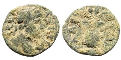 Ancient Coins - Aiolis, Elaia. Marcus Aurelius, 161-180 AD. AE 16mm (1.75 gm). SNG Leypold 512
