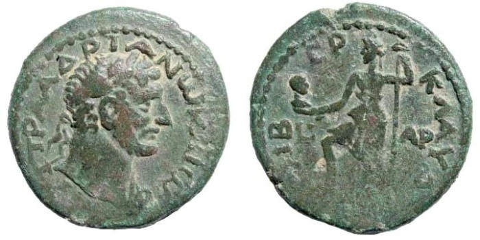 Ancient Coins - Galilee, Tiberias. Hadrian, 117-138 AD. AE 22mm (8.23 gm, 12h). Dated CY 101, 119/20 AD. SNG ANS 1114