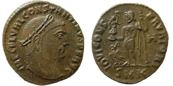 Ancient Coins - Constantine I. 307-337 AD. AE Follis (3.11 gm, 22mm). Cyzicus mint. Struck circa 312-3 AD. RIC VI 105c