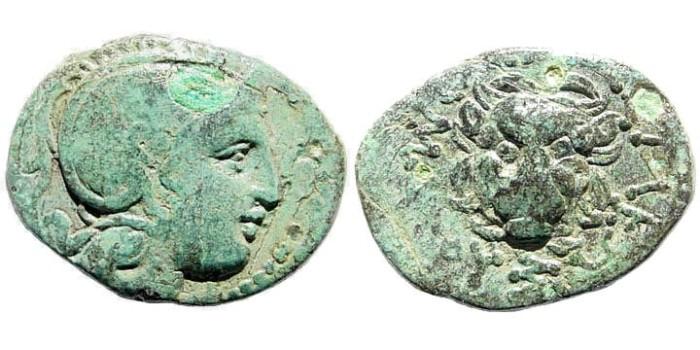 Ancient Coins - Thracian Kings, Lysimachos. 305-281 BC. AE 13mm (1.54 gm). SNG Copenhagen 1170