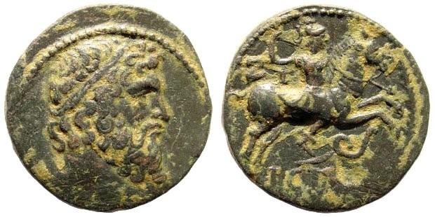 Ancient Coins - Pisidia, Isinda. 1st century BC. AE 20mm (4.37 gm). Year 17. Hans von Aulock, Pisidien 654