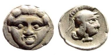 Ancient Coins - Pisidia, Selge. Circa 350-300 BC. AR Obol (0.79 gm, 10mm). SNG Copenhagen 5268