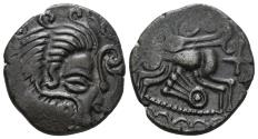 Ancient Coins - Gaul. The Coriosolites. Circa 1st Century BC. Billon Stater (6.61 gm, 22mm). de la Tour 6684