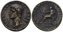 "World Coins - 19th Century or earlier AE Cast ""Sestertius"" (24.53 gm, 34mm). ""Paduan"" medal. Divus Augustus"