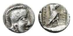 Ancient Coins - Lykia. Uncertain mint. Mid 5th century BC. AR Tetartemorion (0.20 gm, 6mm). Nomos Auct. 20, lot 250. Rare
