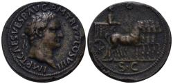 """World Coins - 19th/20th Century AE Cast """"Sestertius"""" (32.82 gm, 34mm). """"Paduan"""" medal. Titus"""