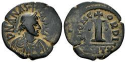 Ancient Coins - Anastasius I, 491-518. AE Decanummium (4.41 gm, 20mm). Antioch mint. SB 52