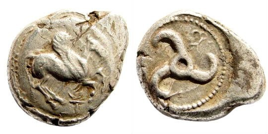 Ancient Coins - Lycia, Dynasts of. Uncertain. Circa 500-460 BC. AR Stater (9.94 gm, 21mm). SNG von Aulock 4090