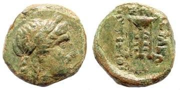 Ancient Coins - Seleucid Kingdom. Antiochus II, 261-246 BC, AE 9mm (0.80 gm). Sardes mint. Houghton -; SNG Spear -; WSM -; SNG Copenhagen -