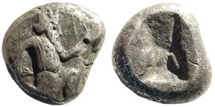 Ancient Coins - Achaemenid Kings. Circa 375-340 BC. AR Siglos (5.44 gm, 15mm). Carradice, Taf. XV, 46