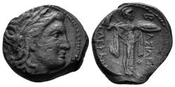 Ancient Coins - Seleukid Kingdom. Seleukos I. 312-280 BC. AE 20mm (5.91 gm). Antioch mint. SNG Spaer 19