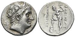 Ancient Coins - Macedonian Kingdom. Demetrios I Poliorketes 306-283 BC. AR Tetradrachm (17.22 gm, 27mm). Pella mint. Newell 89