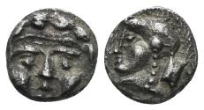 Ancient Coins - Pisidia, Selge. Circa 300-190 BC. AR Diobol (0.84 gm, 9mm).  Klein 361