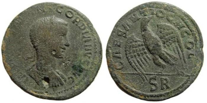 Ancient Coins - Pisidia, Antiochia. Gordian III, 238-244 AD. AE 36mm (27,79 gm). SNG von Aulock 4959 (same dies)