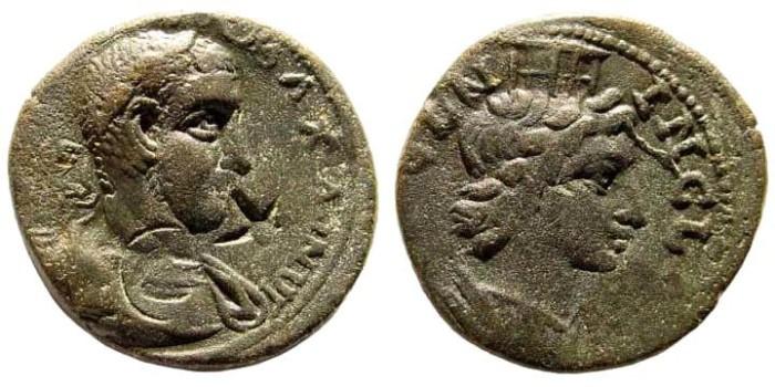 Ancient Coins - Kilikia, Ninika-Klaudiopolis. Maximinus I. 235-238 AD. AE 23mm (7.70 gm). Ziegler, Sammlungen, 347; for c/m Howgego 451 and 669. Ex Karbach collection. Ziegler plate coin