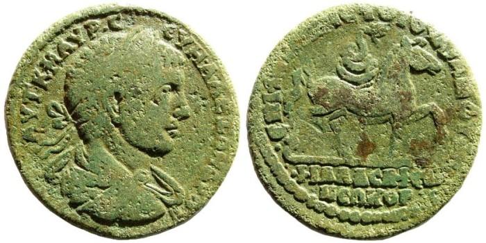 Ancient Coins - Lydia, Philadelphia. Severus Alexander, 222-235 AD. AE 27mm (10.41 gm). BMC 97