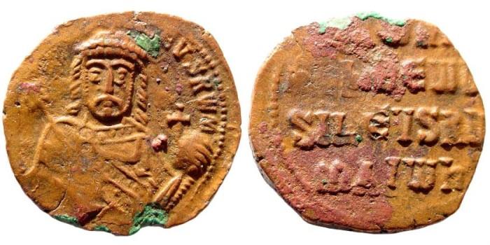 Ancient Coins - Romanus I, 920-944 AD. AE Follis (5.2 gm, 26mm). Constantinople mint. DOC III 25; SB 1760