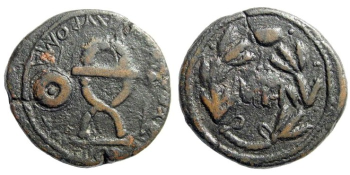 Ancient Coins - Bosporos Kingdom. Sauromates I, 93-123 BC. AE 28mm (12.18 gm). 98-104. SNG Copenhagen 46; MacDonald, Bosporus 78, 408